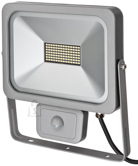 Brennenstuhl LED prozektor 50W SMD SLIM IP54 hõbe+PIR