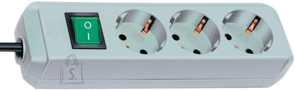 Brennenstuhl pikendusjuhe 3G1,5+lüliti L 1,5m 3p hõbehall