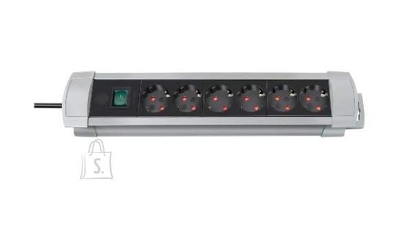 Brennenstuhl pikendusjuhe 3G1,5 6p+L 3m Premium-Line hall/must