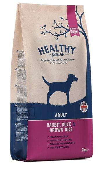 Healthy Paws koeratoit Jäneseliha, Pardiliha & Pruuni Riisiga 2kg