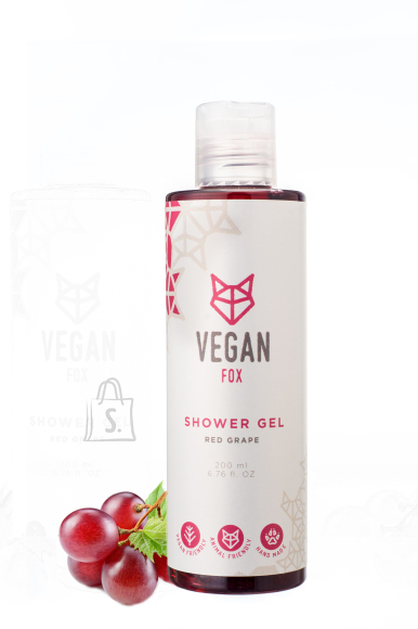 Vegan Fox Vegan Fox, Punase Viinamarja dušigeel, 200ml