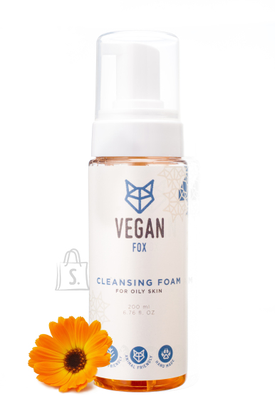 Vegan Fox Puhastusvaht rasusele nahale, 200ml
