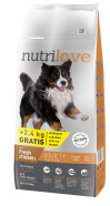 Nutrilove dog dry ADULT L  fresh chicken 12kg+2,4kg