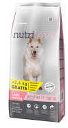Nutrilove dog dry SENSITIVE lamb and rice  12kg +2,4kg