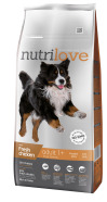Nutrilove dog dry ADULT L  fresh chicken 12kg
