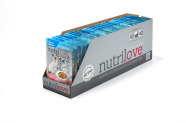 Nutrilove steriliseeritud kasside konserv lõhefileed kastmes 28X85g