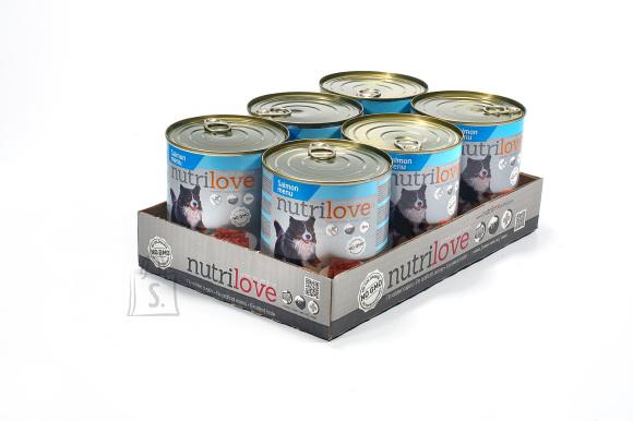 Nutrilove konserv koertele lõhega 6x800g