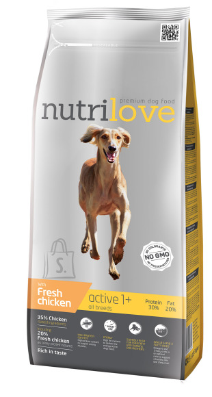 Nutrilove activ koeratoit aktiivsetele koertele 3kg