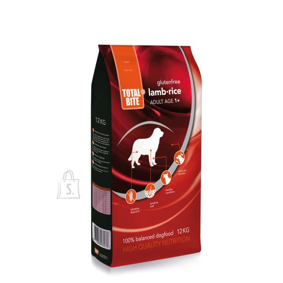 Total Bite lammas & riis koeratoit, gluteenivaba 12kg