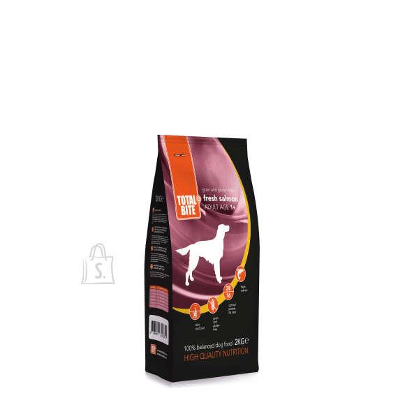 Total Bite teraviljavaba värske lõhega koeratoit  2 kg