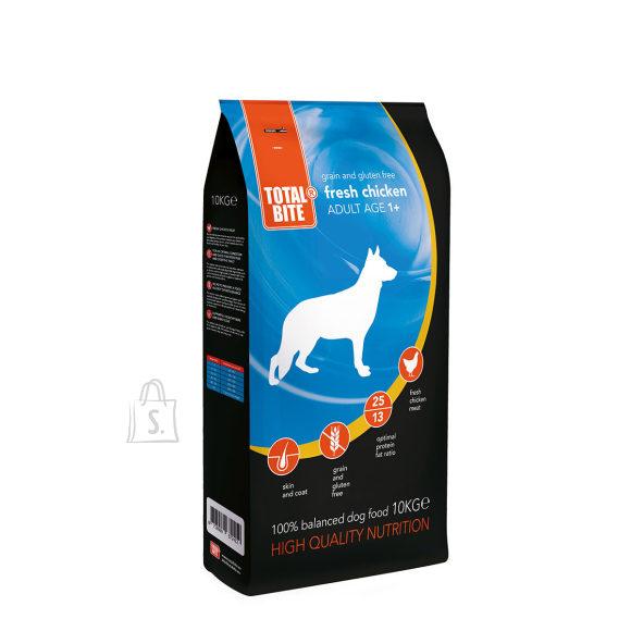 Total Bite teraviljavaba koeratoit värske kanaga 10 kg