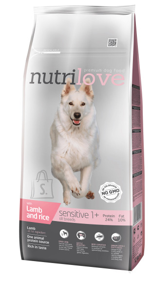 Nutrilove dog dry SENSITIVE lamb and rice  12 kg