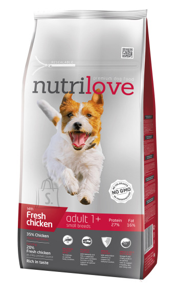 Nutrilove koeratoit adult small fresh chicken 8 kg