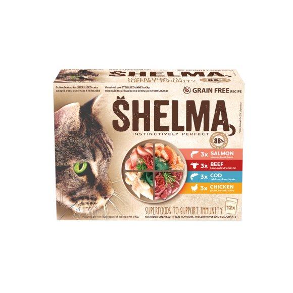 Shelma kassieined liha-kala12x85glõhe,tursk,veis kana kastmes