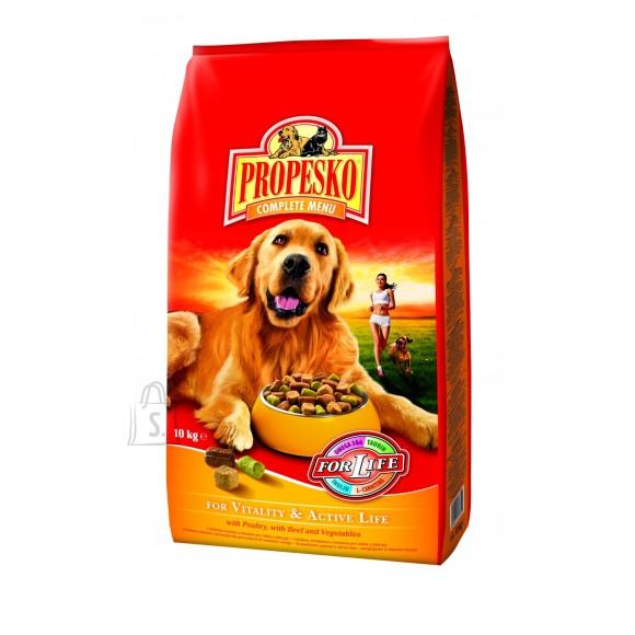 Propesko Vitality & Active Life koeratoit looma-, linnuliha ja juurviljadega 10kg