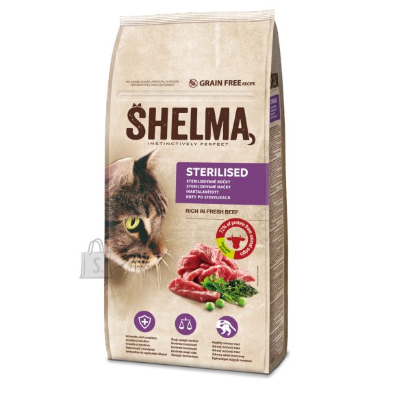 Shelma steril.kassidele värske loomalihaga,tervaviljavaba 8kg