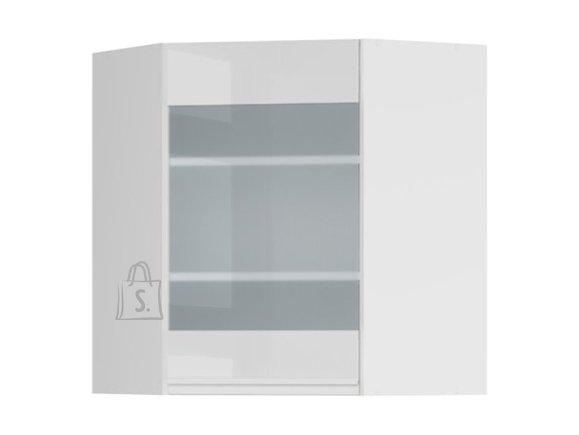 Ülemine nurgakapp osaliselt klaasist uksega 60x72 cm parem hall