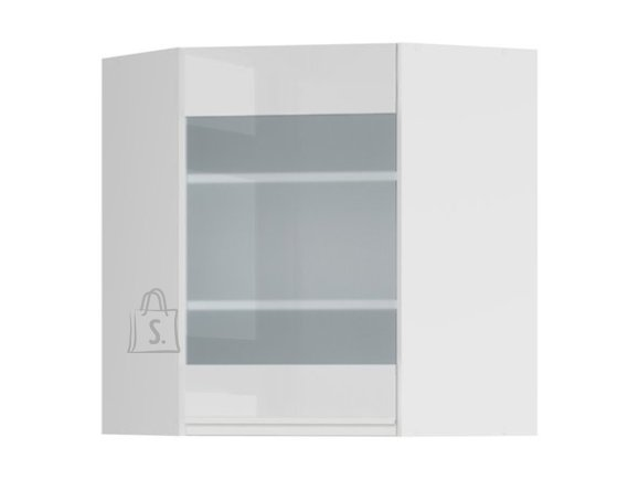 Ülemine nurgakapp osaliselt klaasist uksega 60x72 cm vasak hall