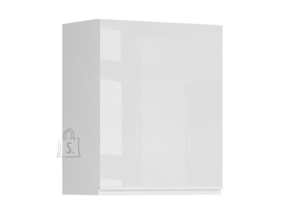 Ülemine nõudekapp ühe uksega Oslo 60x72 cm vasak hall