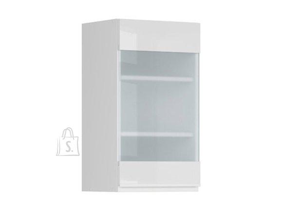 Nordic Ülemine köögikapp osaliselt klaasist uksega Oslo 40x72 cm vasak hall