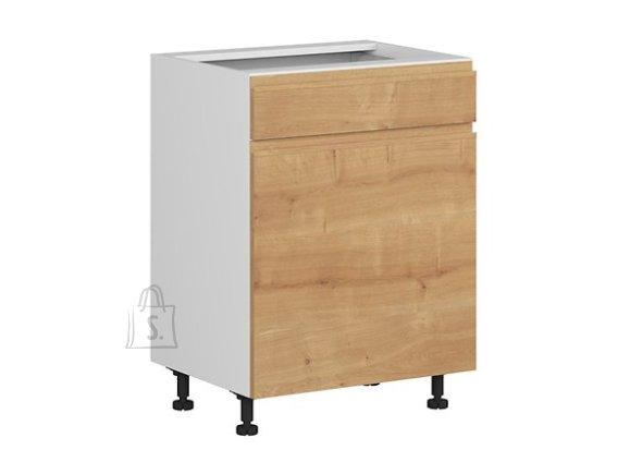 Nordic Alumine köögikapp ukse ja sahtliga Bergen 60x82 cm parem tamm