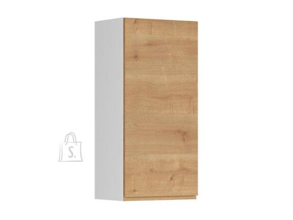 Nordic Ülemine köögikapp uksega Bergen 45x95 cm vasak tamm