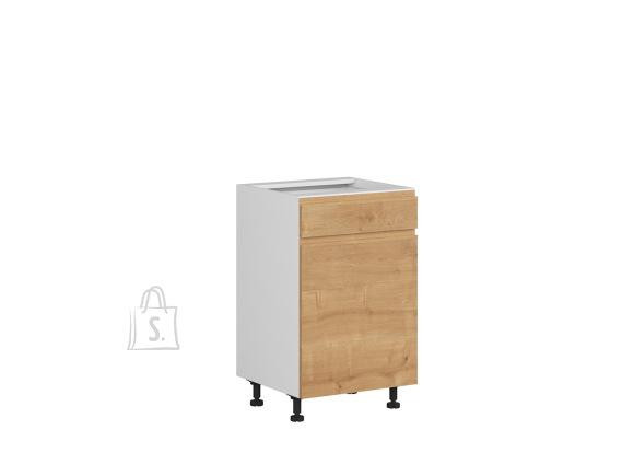 Nordic Alumine köögikapp ukse ja sahtliga Bergen 50x82 cm parem tamm