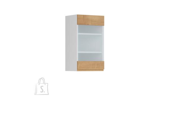 Nordic Ülemine köögikapp osaliselt klaasist uksega Bergen 40x72 vasak tamm