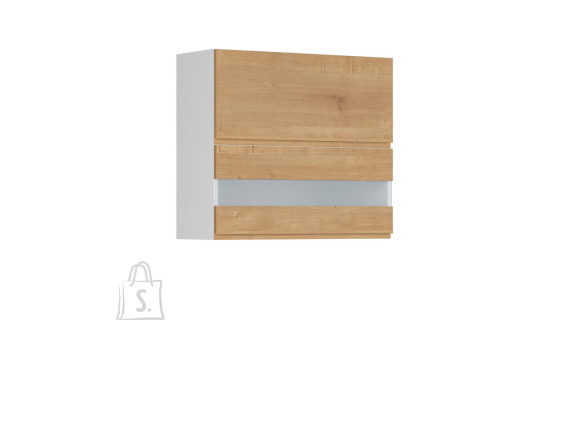 Nordic Ülemine köögikapp 2 uksega Bergen 80x72 parem tamm