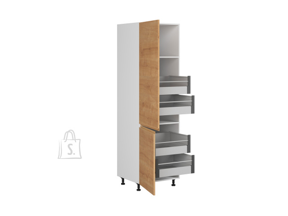 Nordic Kõrge köögikapp 2 uksega Bergen 60x207 cm vasak tamm