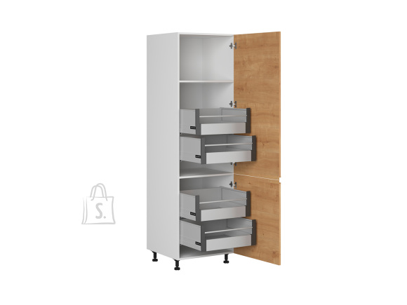 Nordic Kõrge köögikapp 2 uksega Bergen 60x207 cm parem tamm