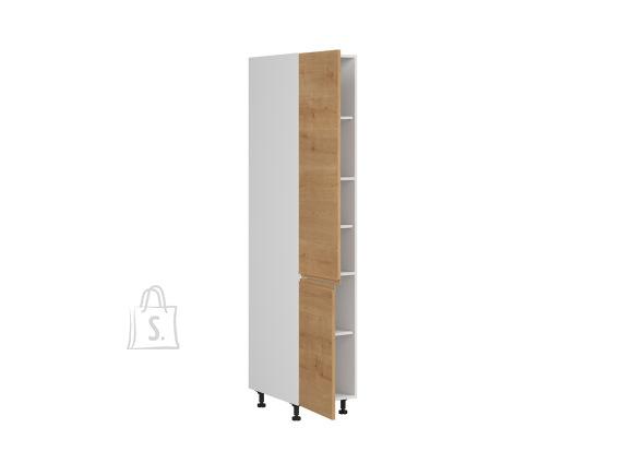 Nordic Kõrge köögikapp 2 ukse ja 5 vaheriiuliga Bergen 40x207 cm vasak tamm