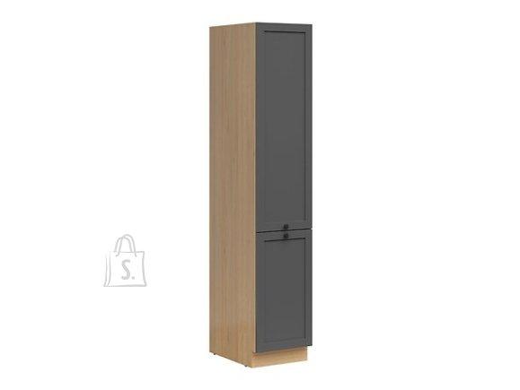 Nordic Kõrge köögikapp 2 uksega Lund 40x207 cm grafiit