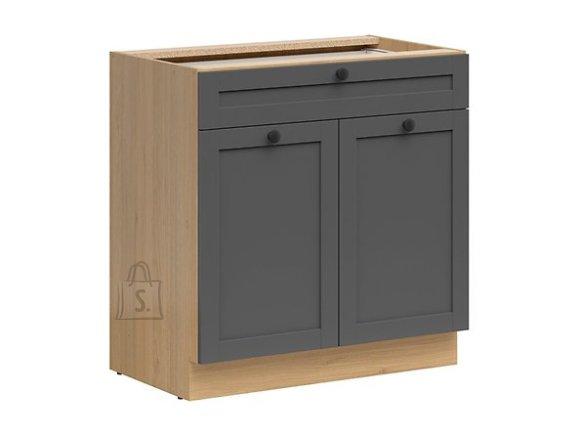 Nordic Alumine köögikapp sahtli ja 2 uksega Lund 80x82 cm grafiit