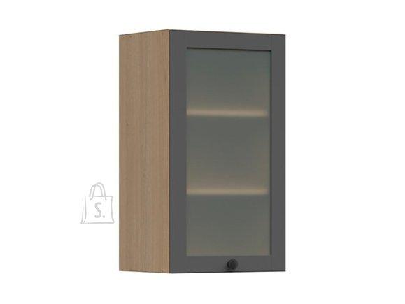 Nordic Ülemine köögikapp osaliselt klaasist uksega Lund 40x72 grafiit