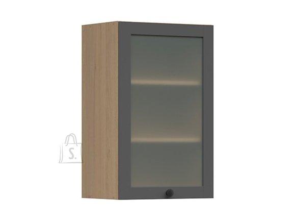 Nordic Ülemine köögikapp osaliselt klaasist uksega Lund 45x72 grafiit