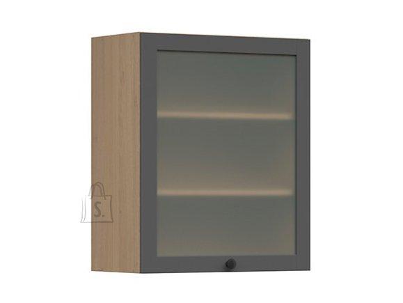 Nordic Ülemine köögikapp osaliselt klaasist uksega Lund 60x72 grafiit