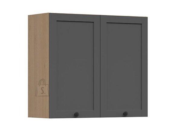 Nordic Ülemine köögikapp 2 uksega Lund 80x72 grafiit