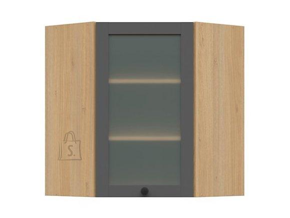 Nordic Ülemine nurgakapp klaasist uksega Lund 60x72 grafiit