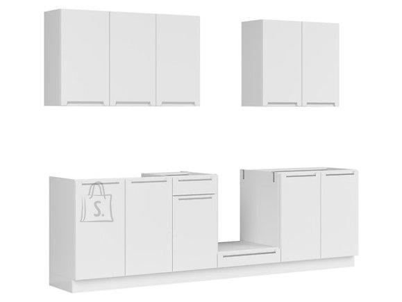 Köögikomplekt Malmö 260 cm valge