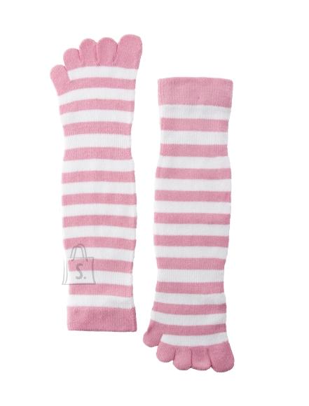 Sokisahtel ESTELLO roosa-valgetriibulised varvassokid