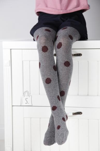 Sokisahtel LEDA tumehallid tüdrukute puuvillased sukkpüksid 110-116