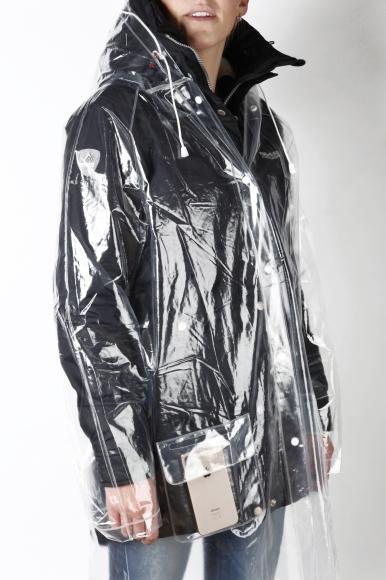 Sokisahtel Läbipaistev, korduvkasutatav vihmamantel plus size
