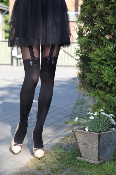 Sokisahtel ALJONA mustad sukkpüksid naistele XL