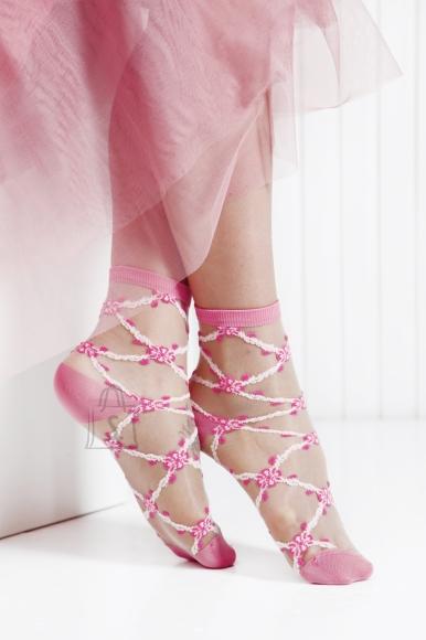 Sokisahtel KRISTIN roosad õhukesed sokid naistele 36-40