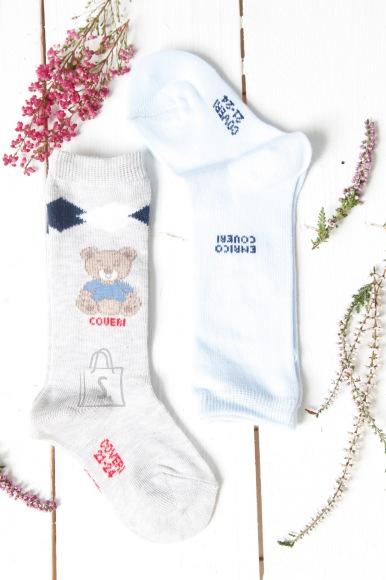 Sokisahtel HOVERI beebipoiste helesinised põlvikud 2 paari pakis 6-12 months