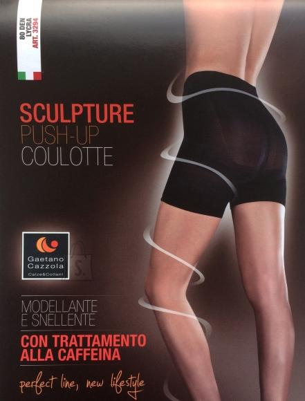 Sokisahtel Gaetano Cazzola SILVIA 80DEN beežid push-up lühikesed püksid S