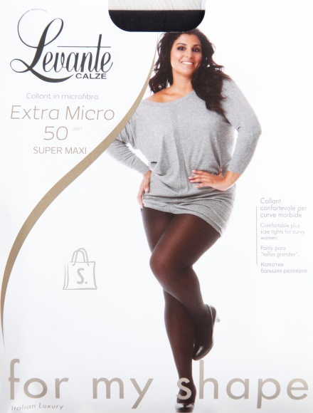 Sokisahtel EXTRA 50DEN mustad naiste sukkpüksid 5XL