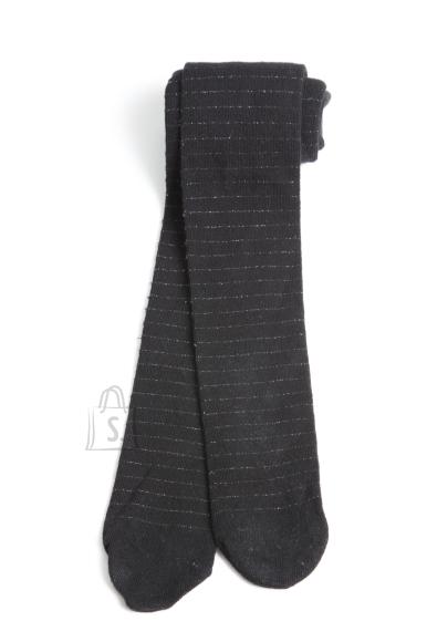Sokisahtel LAUREN mustad puuvillased sukkpüksid tüdrukutele 98-104