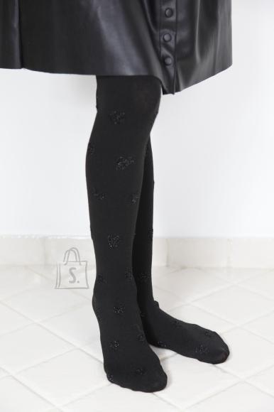 Sokisahtel SAMY mustad puuvillased sukkpüksid tüdrukutele 86-92